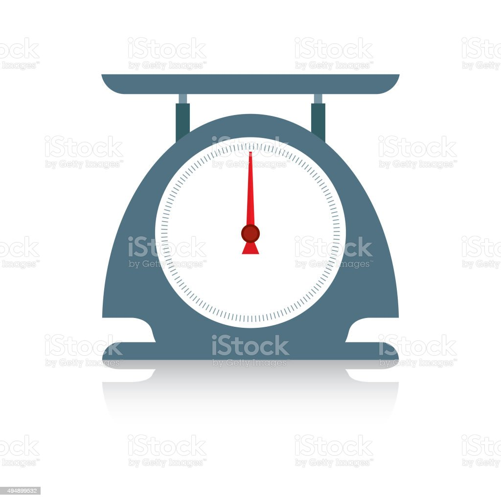 scales icon vector art illustration