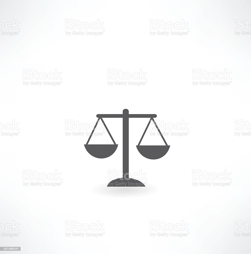 scales icon vector art illustration