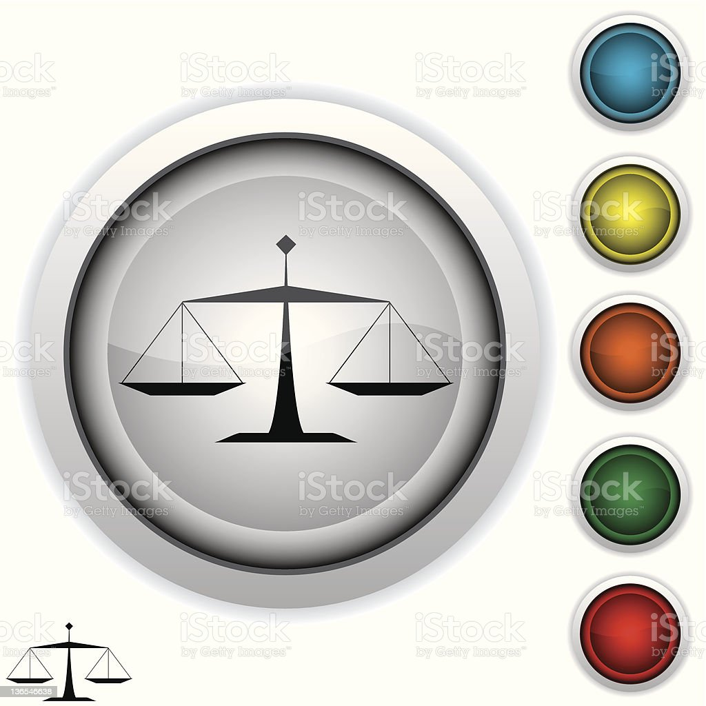scales of justice icon royalty-free stock photo