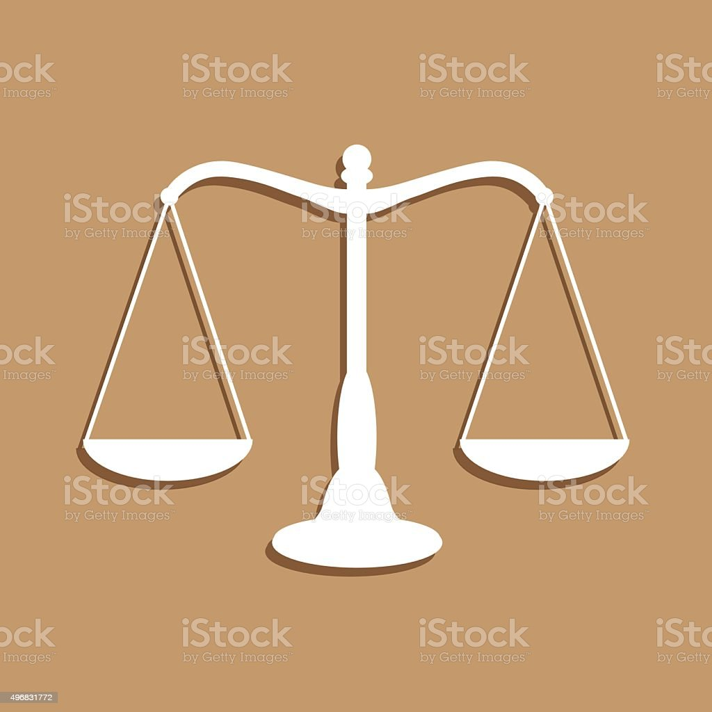 Scales Of Justice Icon vector art illustration