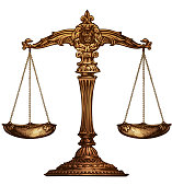 Scales of justice isolated. Vector illustration