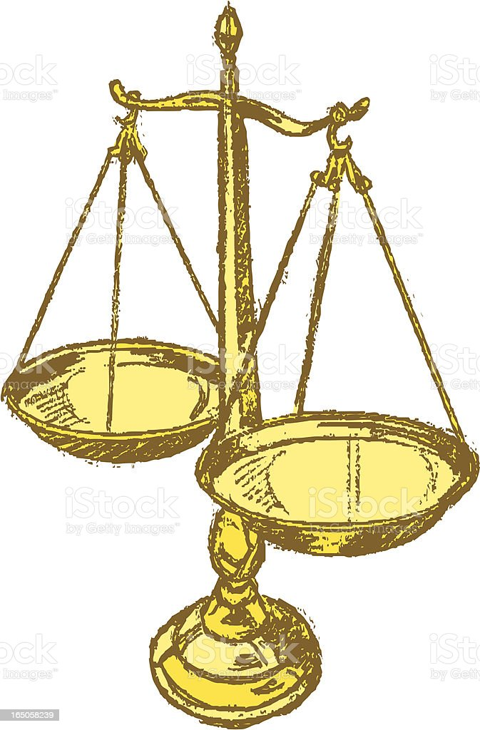 Scales of Justice - Law royalty-free stock vector art