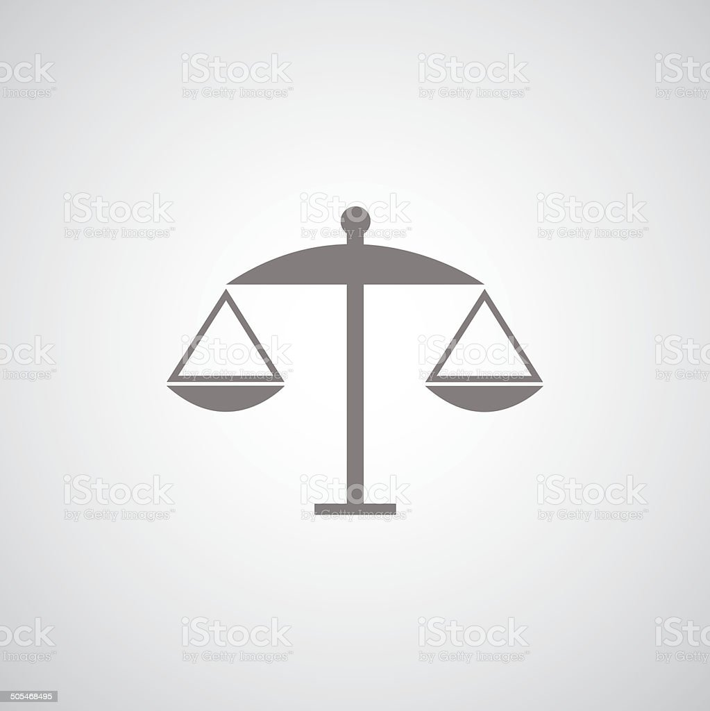scales of justice symbol vector art illustration