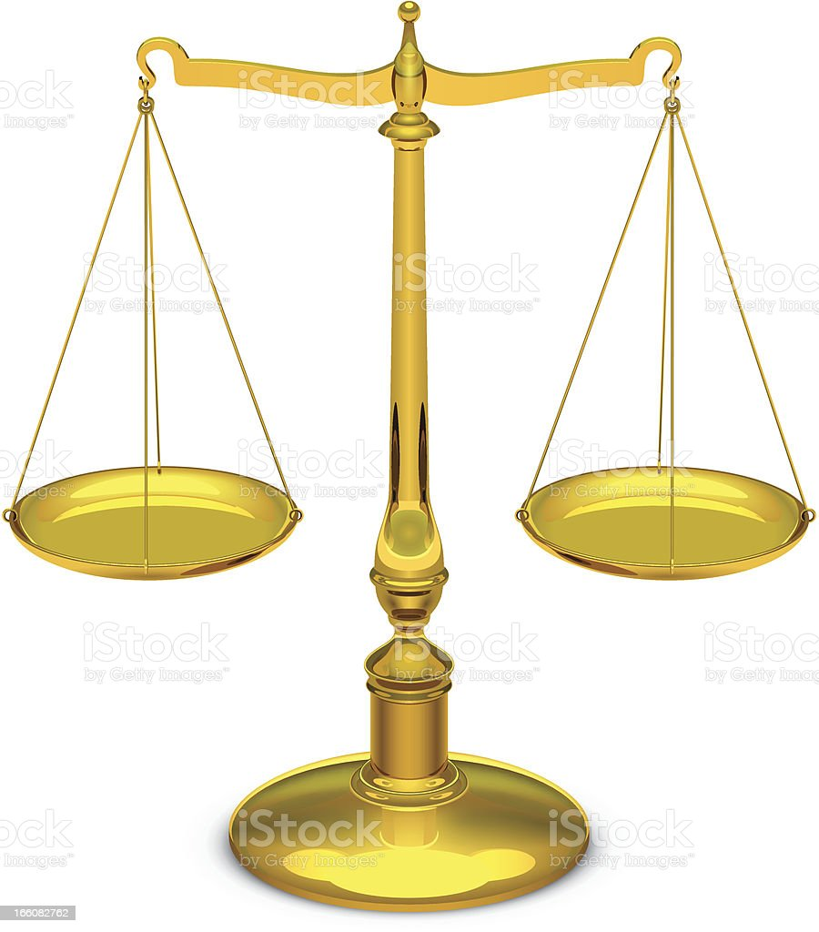 Scales of justice royalty-free stock vector art