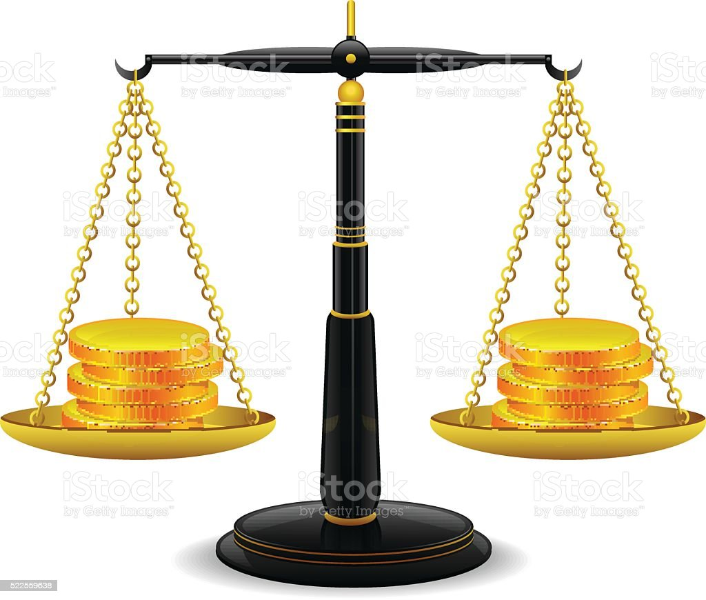 Scales of Justice vector art illustration