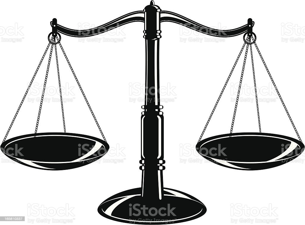 Scales & weight royalty-free stock vector art