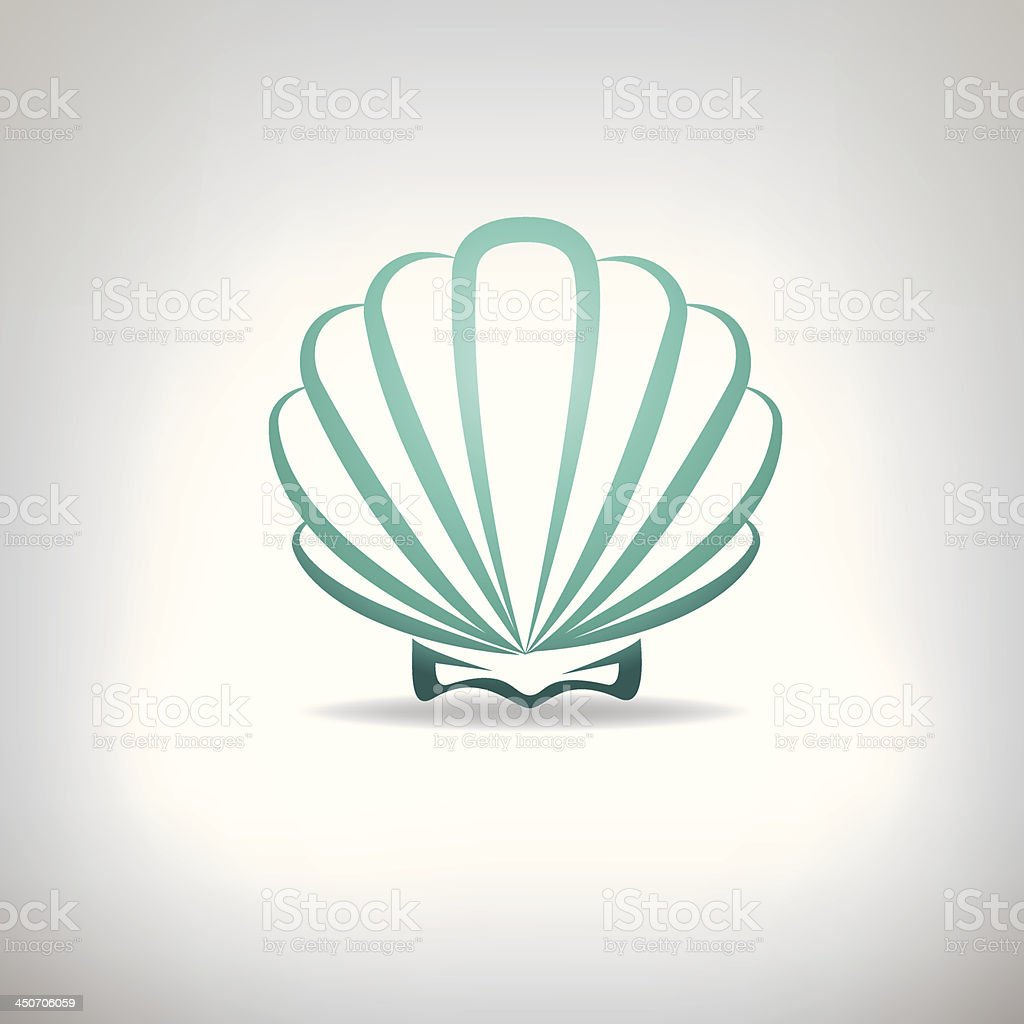 Scallop seashell. Vector. royalty-free stock vector art