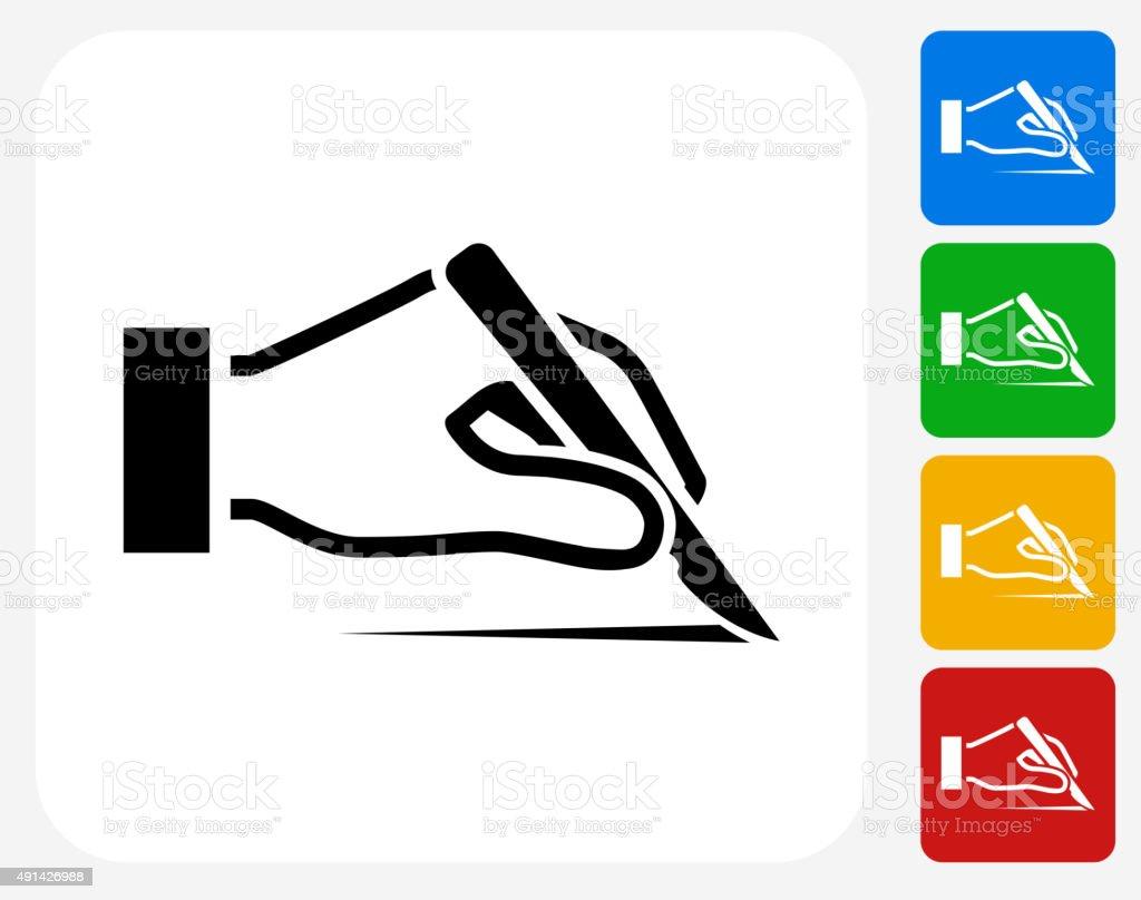 Scalp Icon Flat Graphic Design vector art illustration