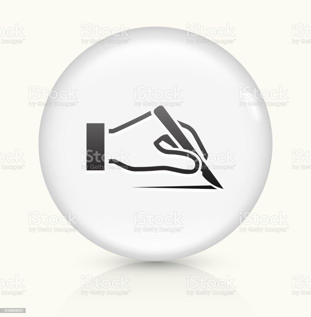 Scalp icon on white round vector button vector art illustration