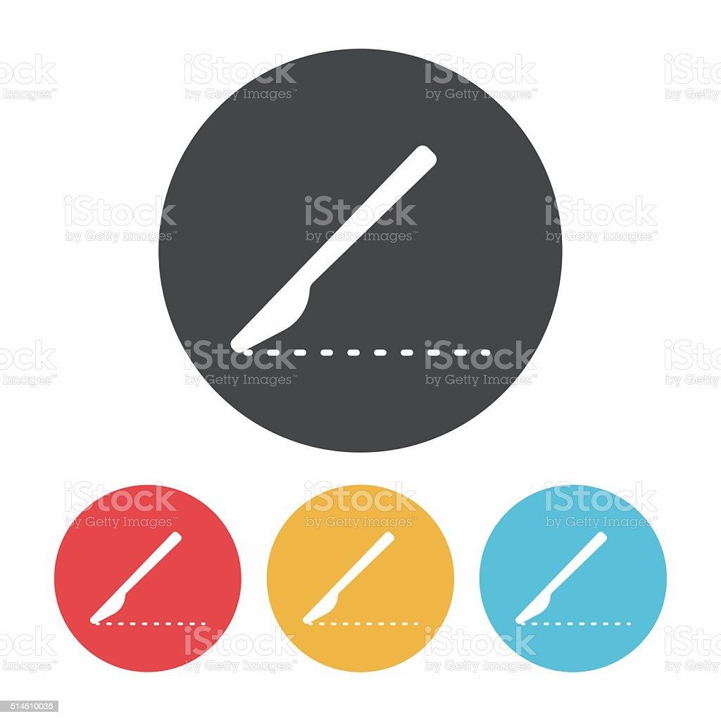 Scalpel icon vector art illustration