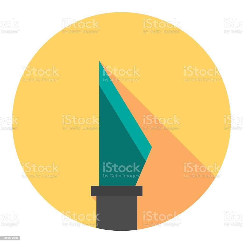Scalpel Medical Tool Flat Icon vector art illustration