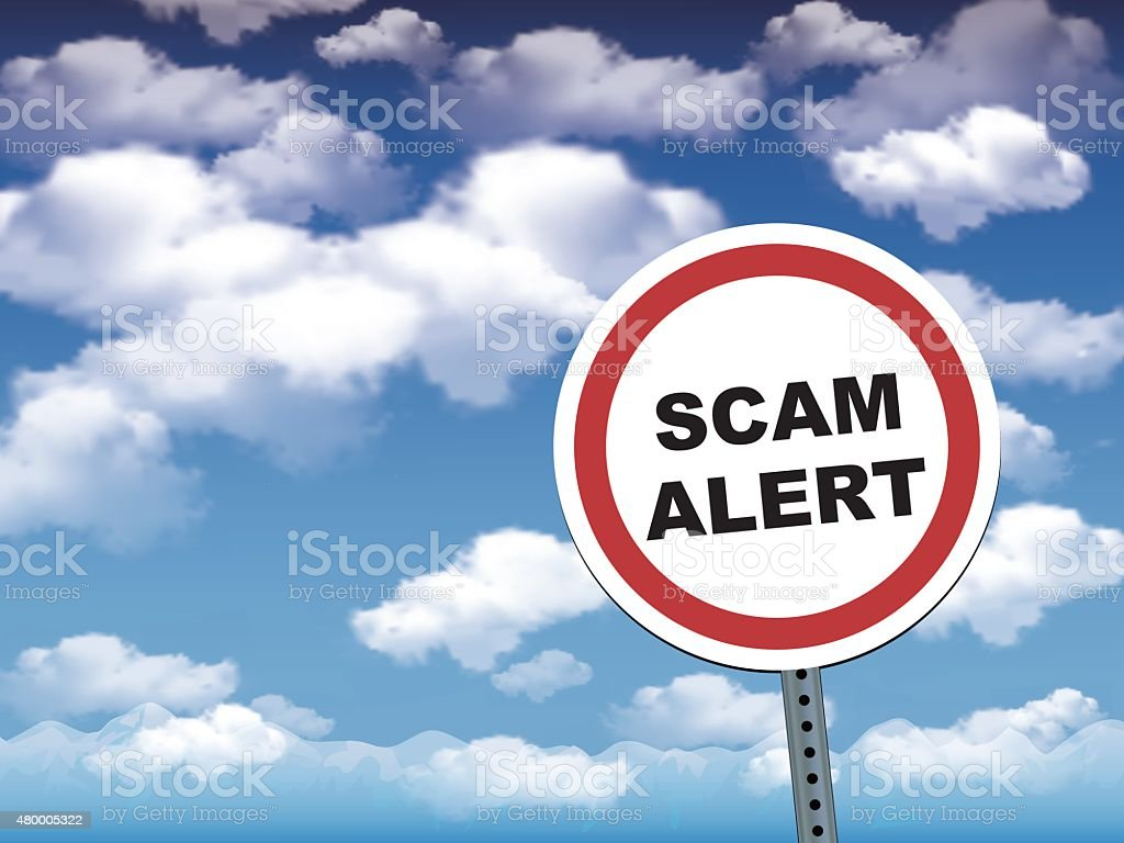 scam alert vector art illustration