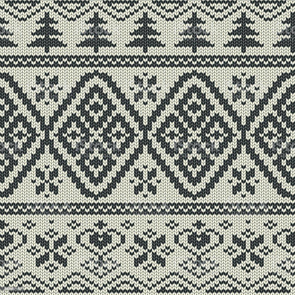 Scandinavian knitted seamless pattern royalty-free stock vector art