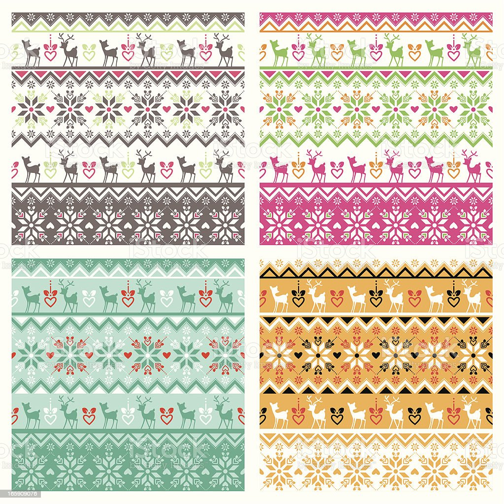 Scandinavian pattern swatch vector art illustration