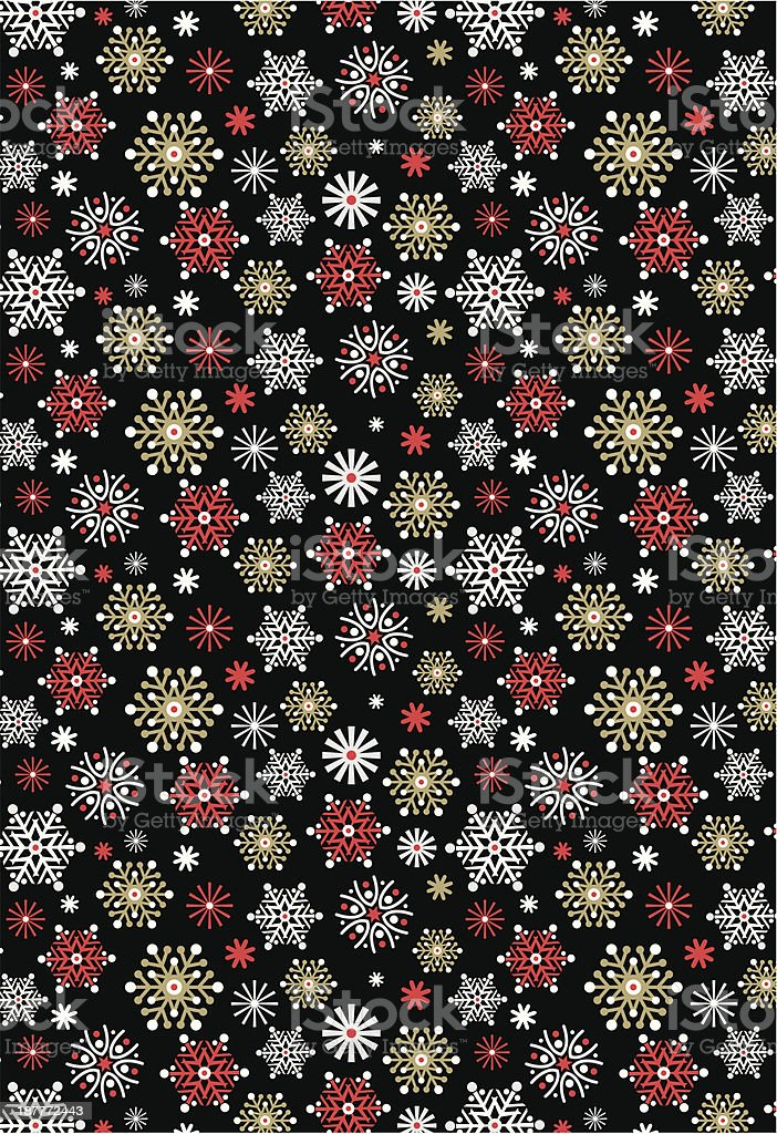 Scandinavian Snowflake Pattern Repeat royalty-free stock vector art
