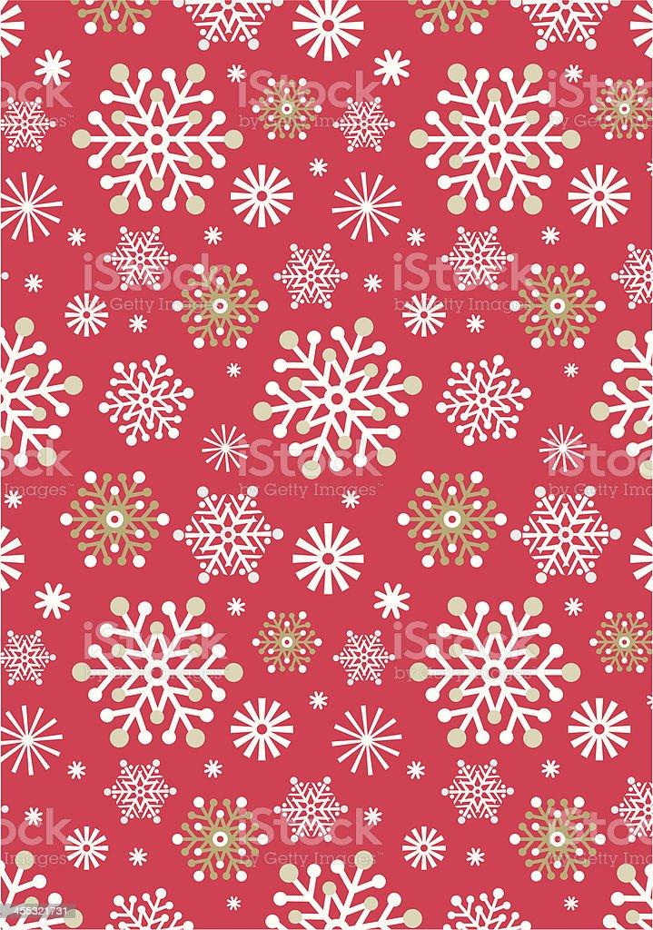 Scandinavian Snowflake Repeat Pattern royalty-free stock vector art