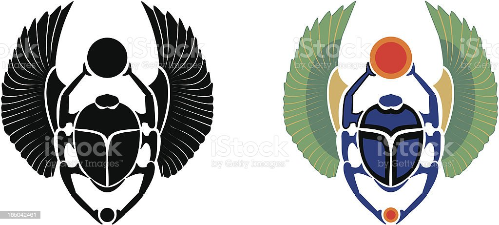 Scarab royalty-free stock vector art
