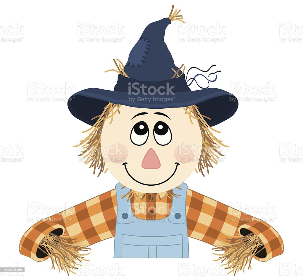 Scarecrow Hanger vector art illustration