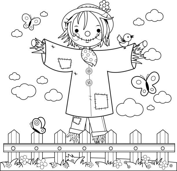 Cartoon Of A Flowers And Butterflies Clip Art, Vector Images