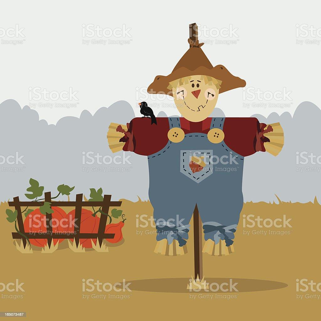 Scarecrow royalty-free stock vector art