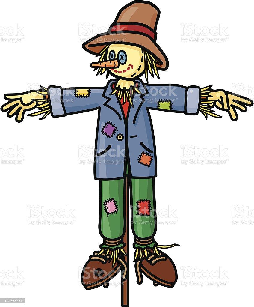 Scarecrow vector art illustration