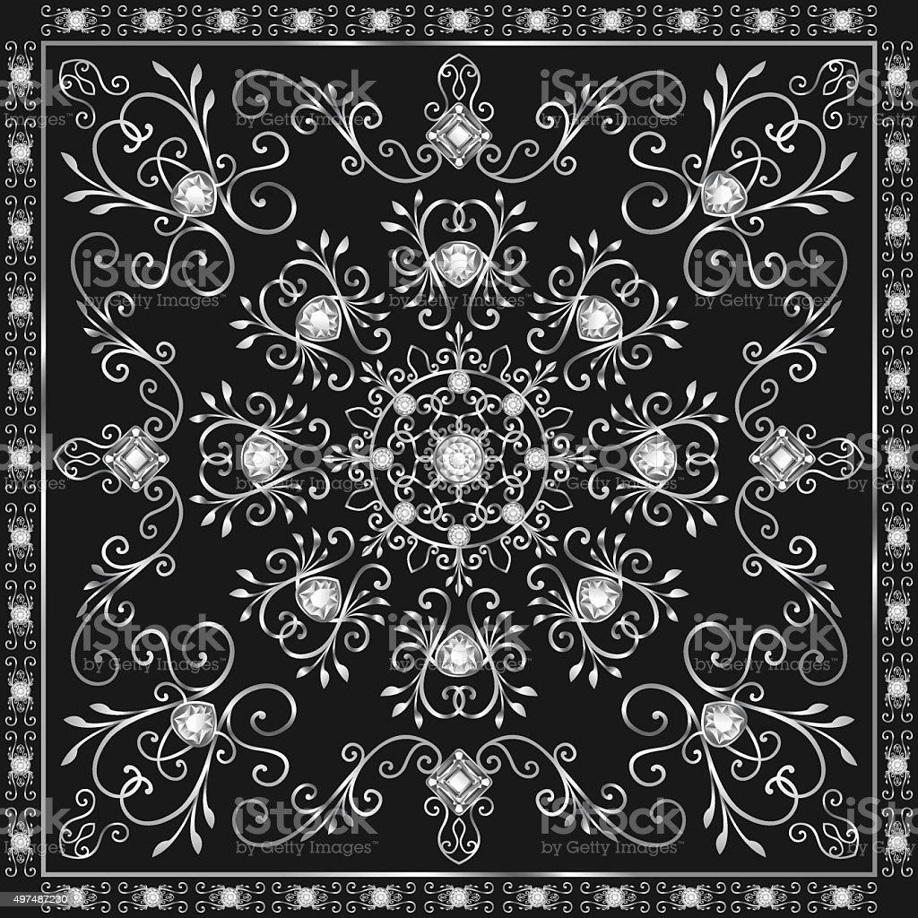scarf pattern vector art illustration