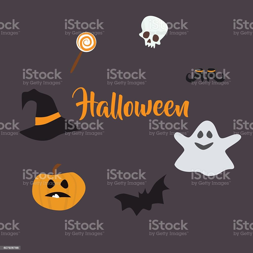 scary background in cartoon style ,  Halloween . Vector . vector art illustration