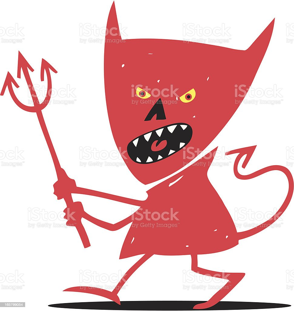 Scary Devil royalty-free stock vector art