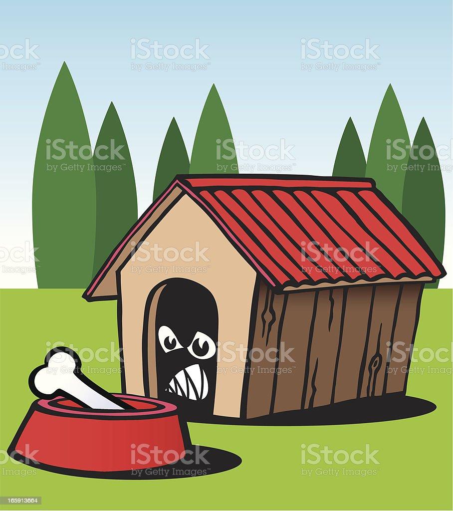 Scary Dog vector art illustration