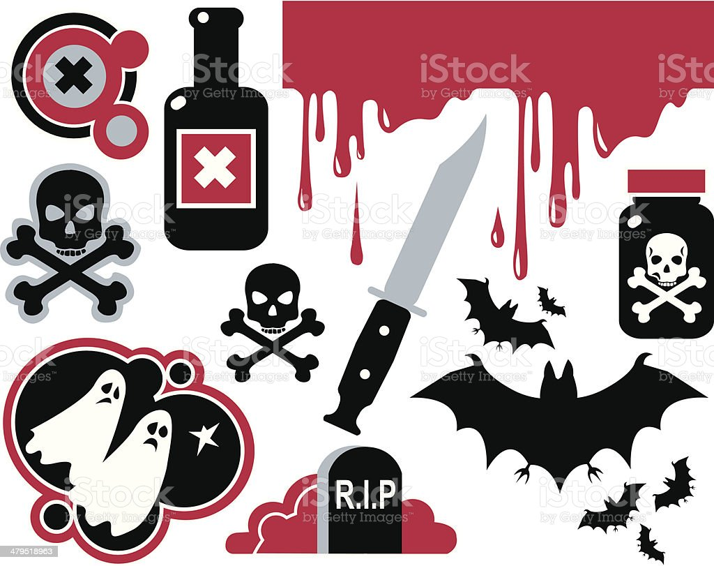 Scary elements royalty-free stock vector art