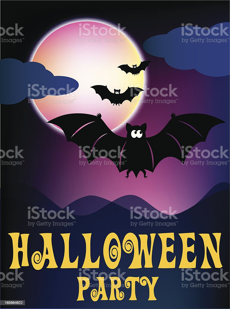 Scary halloween background - Illustration royalty-free stock vector art