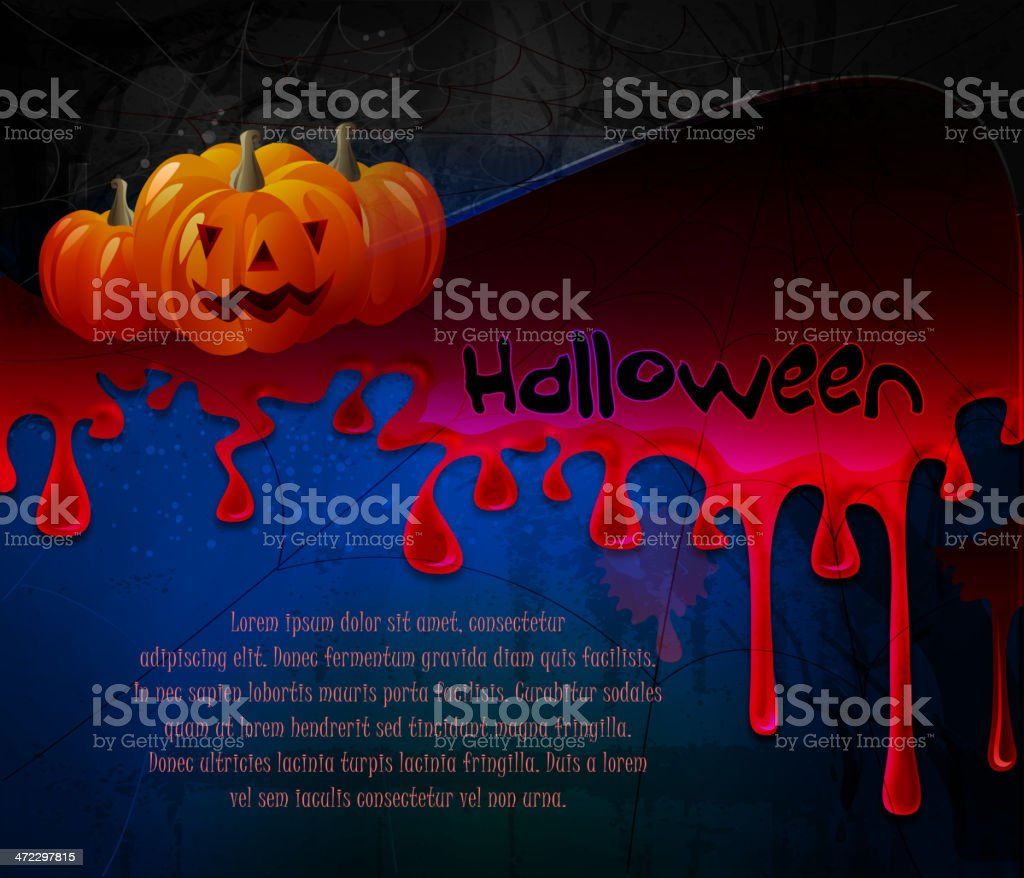 Scary Halloween Background royalty-free stock vector art