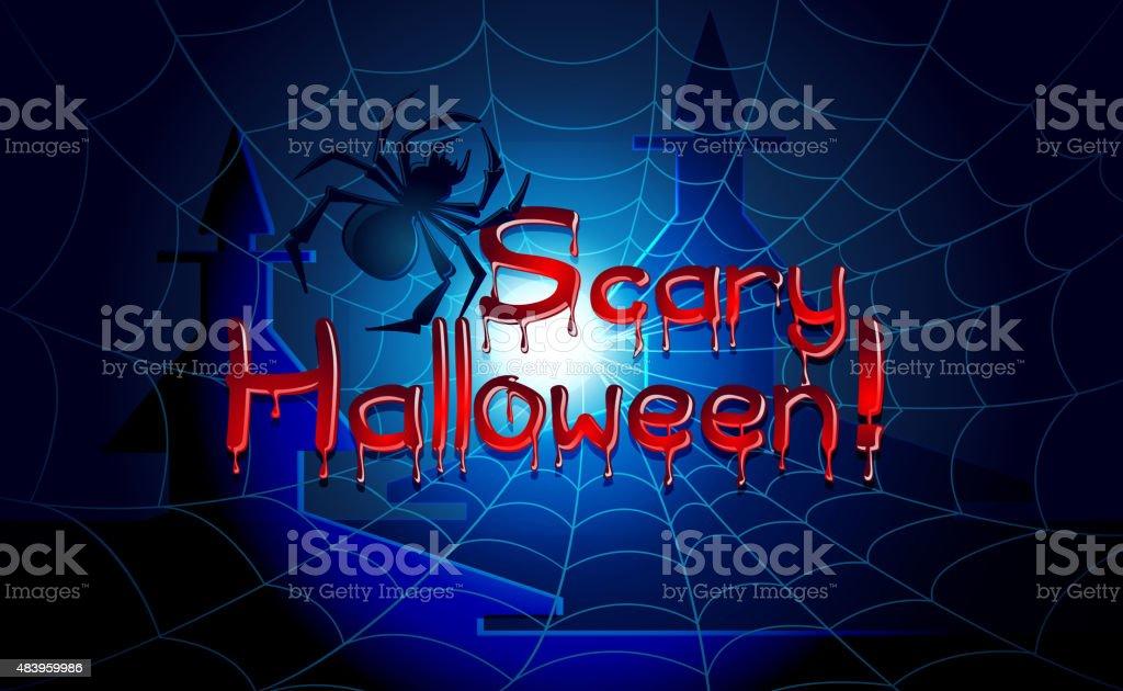 Scary Halloween Background vector art illustration