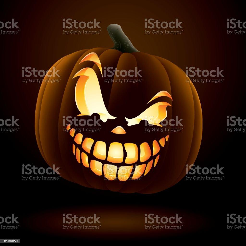 Scary Jack O Lantern royalty-free stock vector art