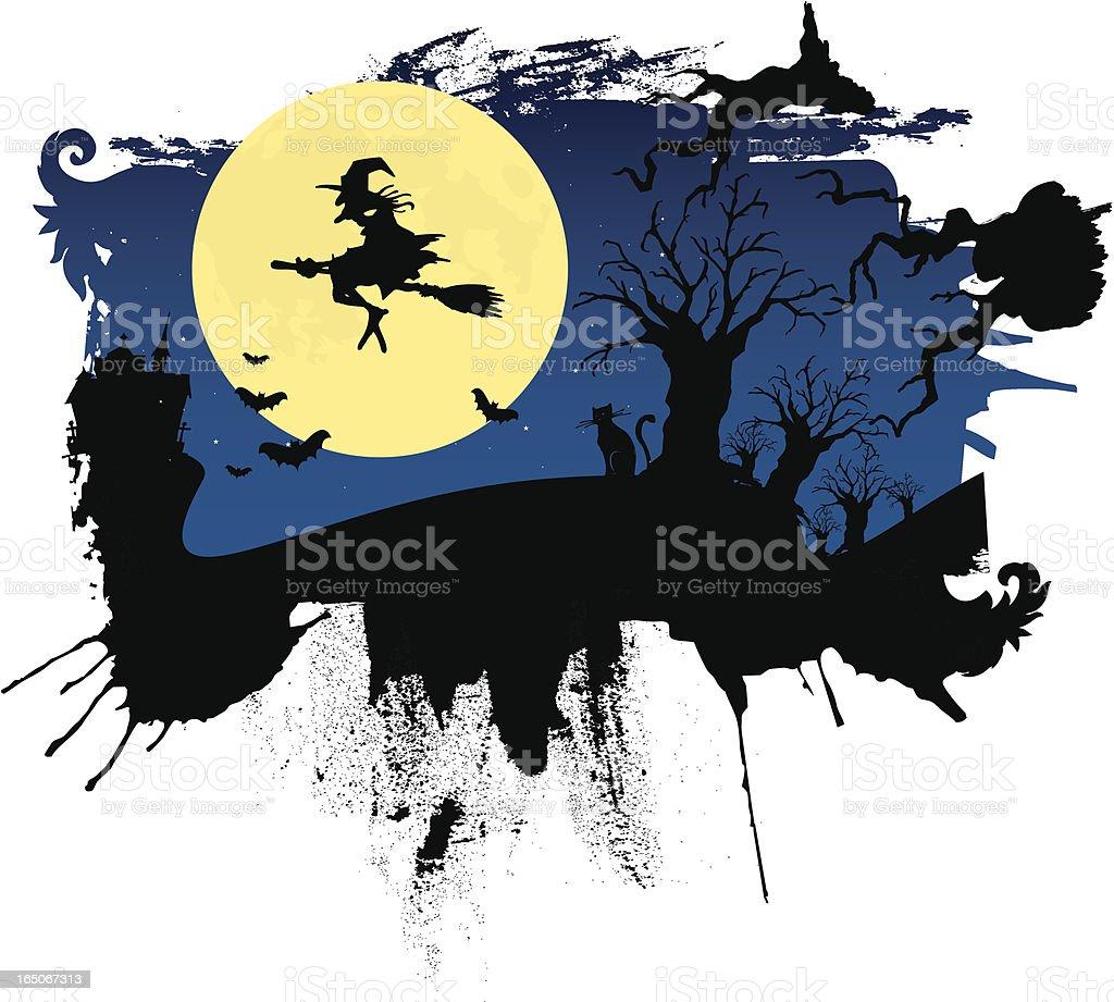 scary night royalty-free stock vector art