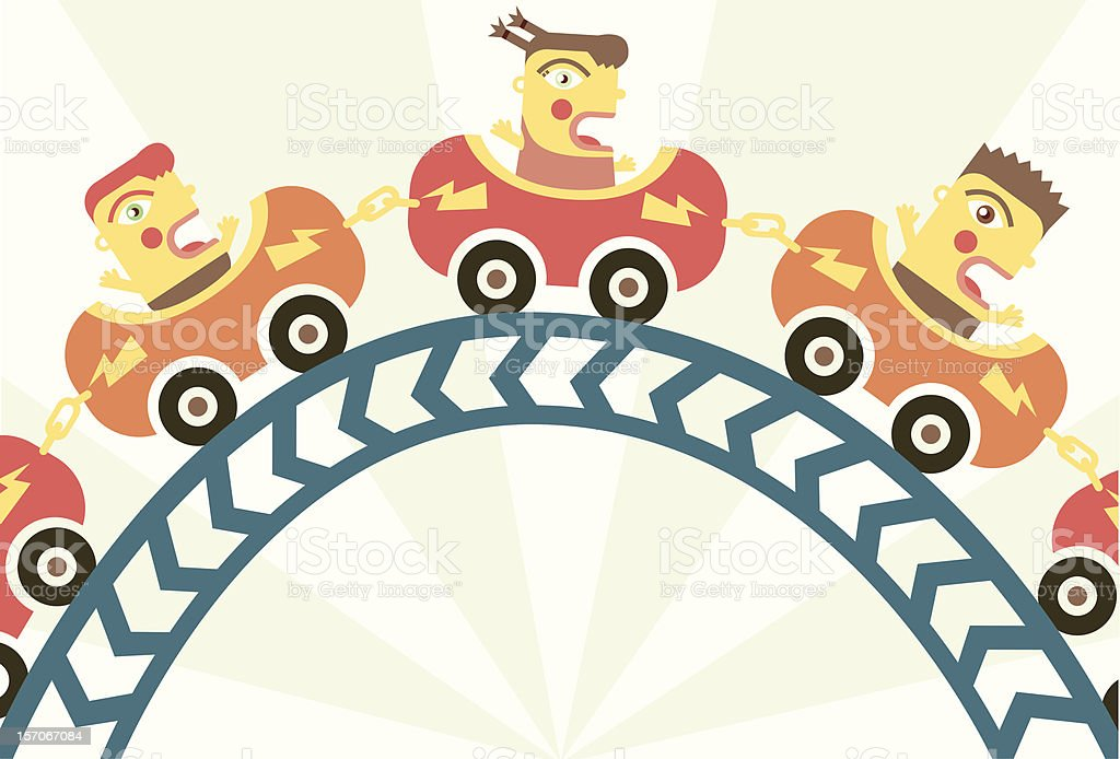 Scary Roller Coaster royalty-free stock vector art