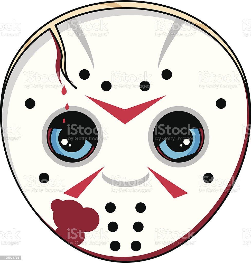 Scary Serial Killer Mask royalty-free stock vector art