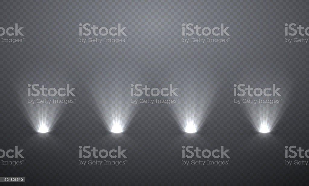Scene illumination from below vector art illustration