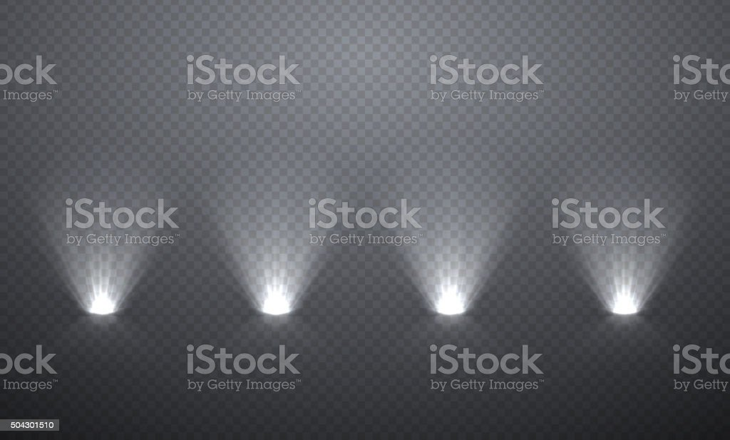 Scene illumination from below vector art illustration
