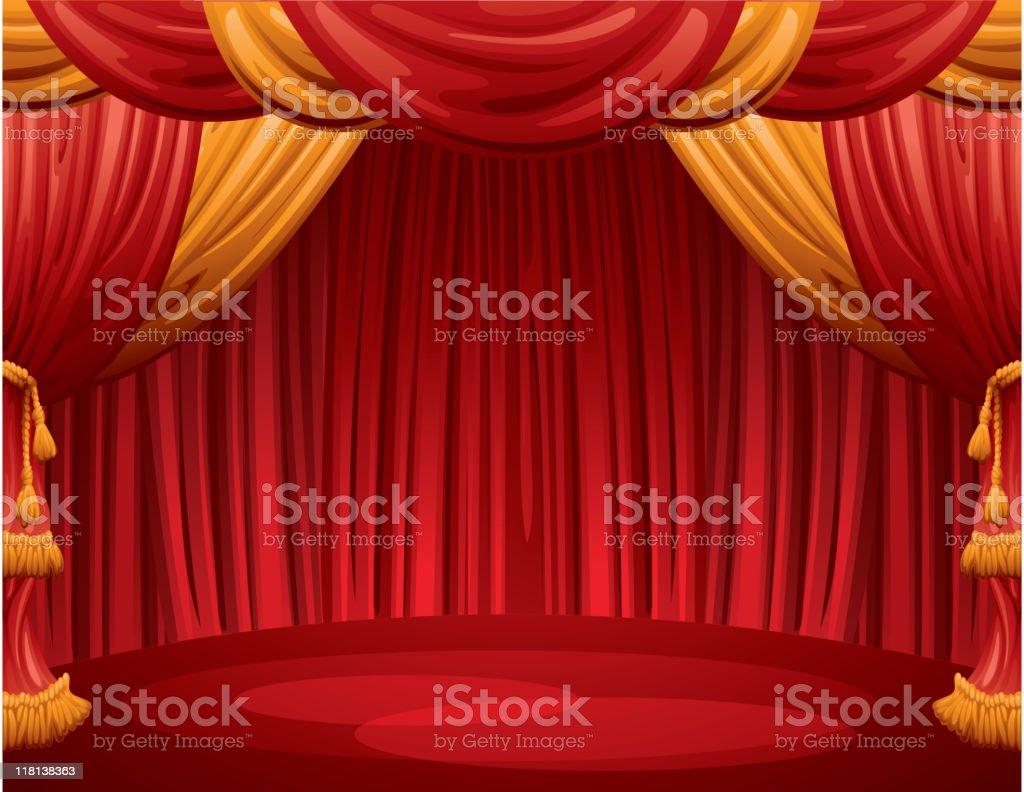 scene of theatre royalty-free stock vector art