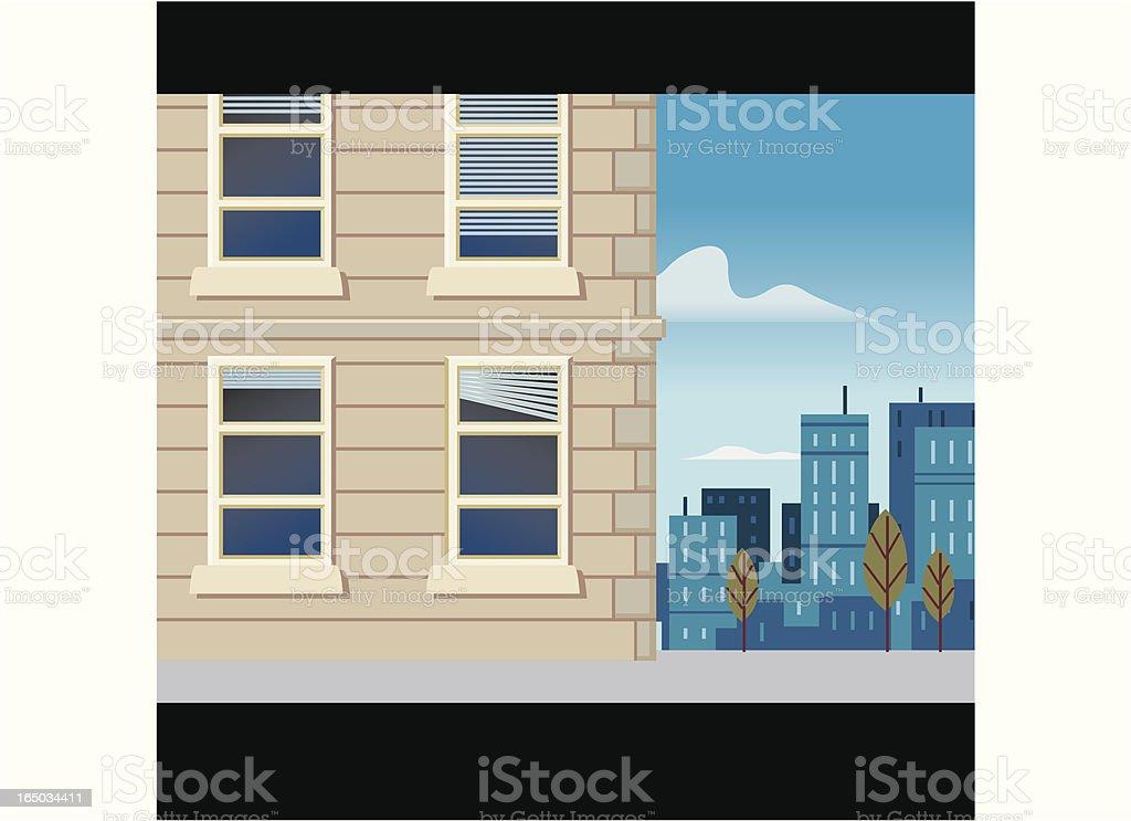 Scene #2 Office Building royalty-free stock vector art