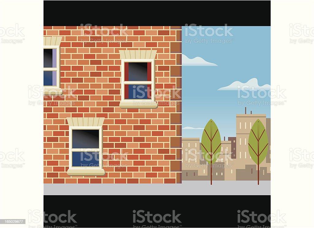 Scene #3 Town House royalty-free stock vector art
