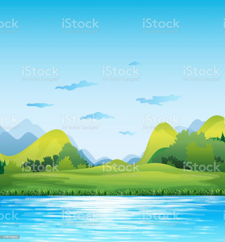 Scenery vector art illustration