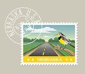 scenic Nebraska farmland and Meadowlark