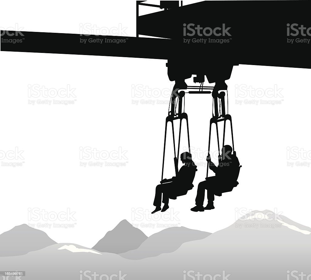 Scenic Ride Vector Silhouette royalty-free stock vector art