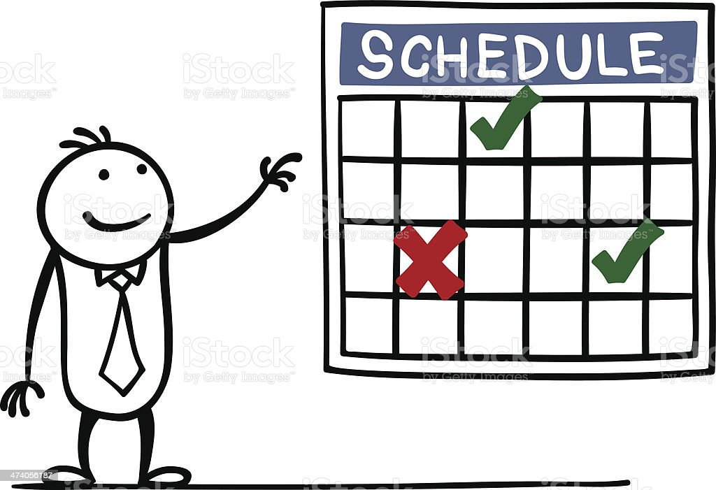Schedule vector art illustration