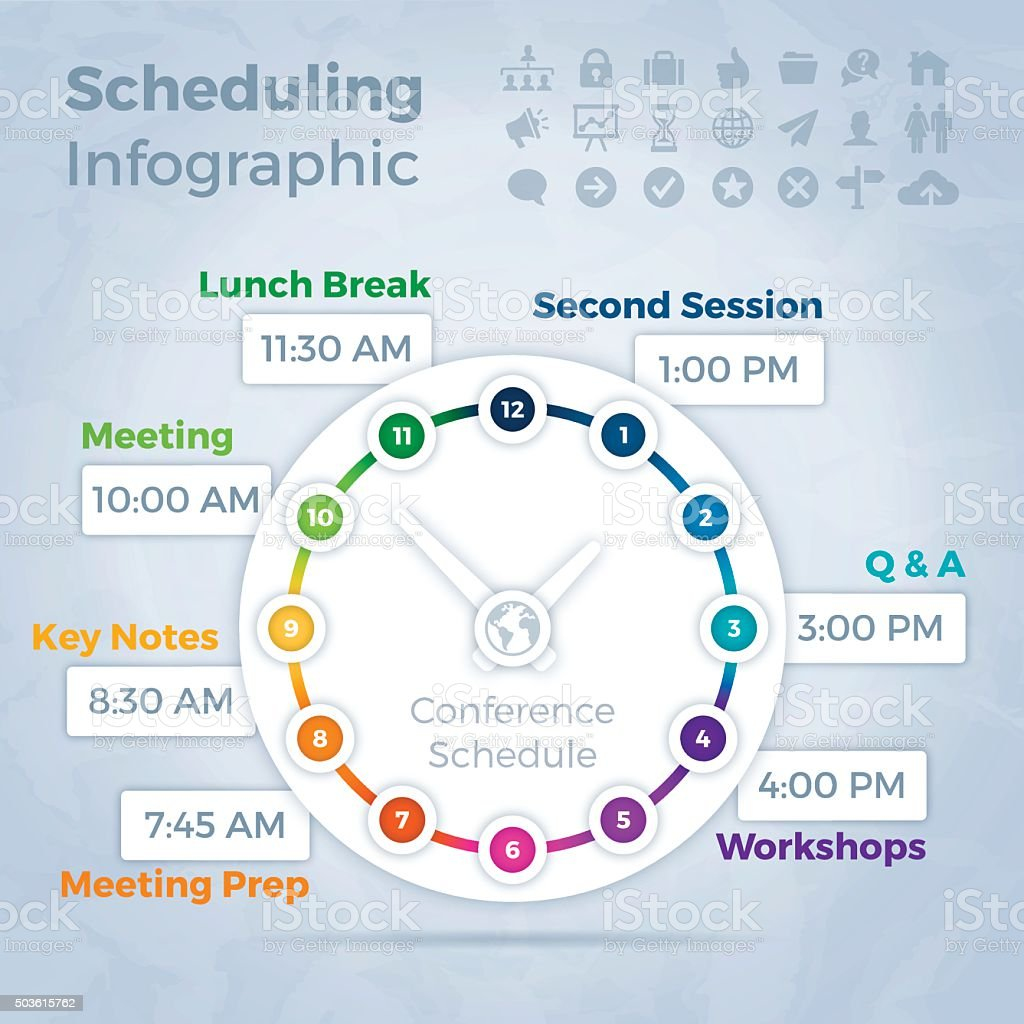 Scheduling Infographic Concept vector art illustration