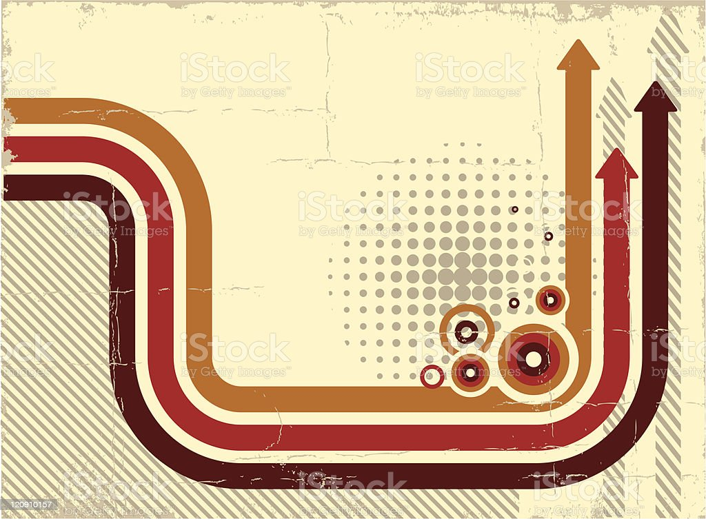 A schematic background with leading arrow routes vector art illustration