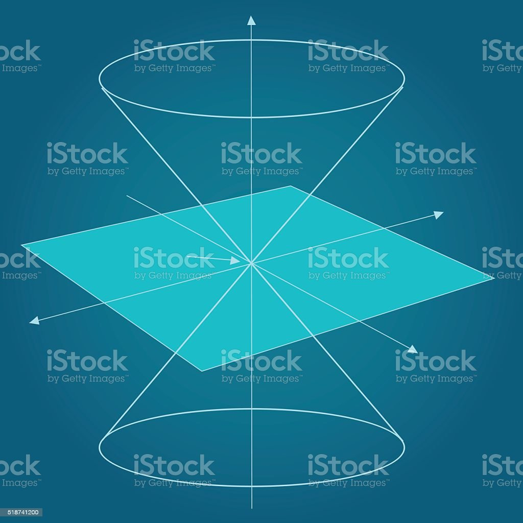 Scheme of physics, chemistry and sacred geometry. vector art illustration