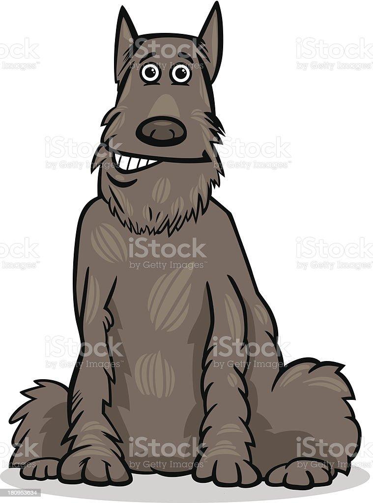schnauzer dog cartoon illustration royalty-free stock vector art